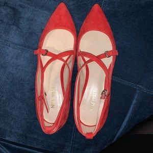 Red Nine West Flats